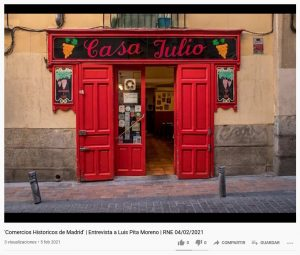 Comercios Históricos de Madrid en Radio Nacional de España
